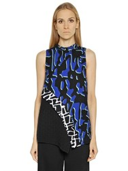 Proenza Schouler Printed Viscose Georgette Top