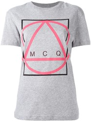 Mcq By Alexander Mcqueen Glyph Icon Print T Shirt Grey