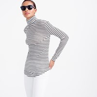 J.Crew 10 Percent Turtleneck T Shirt In Stripe