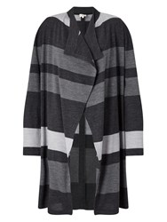East Stripe Edge To Edge Cardi Grey
