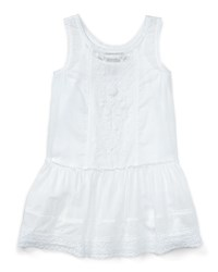 Ralph Lauren Childrenswear Smocked Embroidered Cotton Voile Dress White Size 5 6X Girl's Size 6