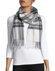 Lord And Taylor Plaid Cashmere Scarf Ivory