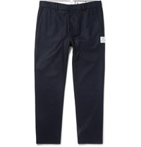 Moncler Gamme Bleu Slim Fit Wool Felt Trousers Navy