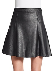Jaye.E Faux Leather Flare Skirt Black