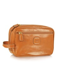 Bric's Life Leather Travel Case Brown