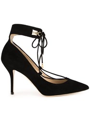 Paul Andrew Lace Up Pointed Toe Pumps Black