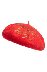 Collection Xiix Women's Santa Baby Wool Beret Red