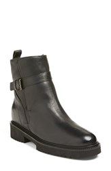 Vince Women's 'Claudia' Genuine Shearling Lined Boot Black Leather