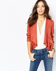 New Look Waterfall Front Blazer Chestnut
