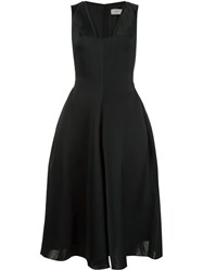 Lanvin Flared Midi Dress Black