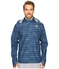 Asics Storm Shelter Jacket Poseidon Men's Coat Black