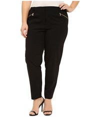 Calvin Klein Plus Plus Size Skinny Pants With Zippers Black Women's Casual Pants