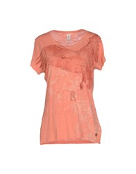 Replay Topwear T Shirts Women Salmon Pink