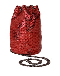 Whiting And Davis Mini Bucket Bag Red