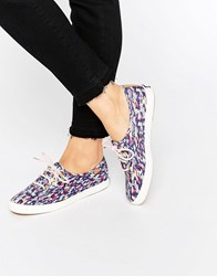 Keds Liberty Meadow Print Plimsoll Trainers Multi