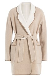 Max Mara Reversible Wool Coat With Angora Beige