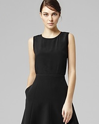 Reiss Top Kali Sleeveless Black