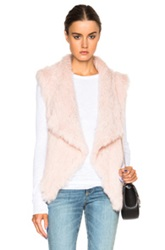 Nicholas Knitted Fur Vest In Pink