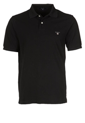 Gant Solid Pique Polo Shirt Black