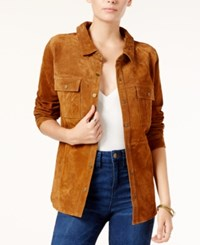 Sanctuary Suede Overshirt Ol Spice