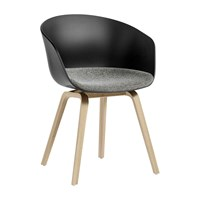Hay About A Chair Aac22 With Upholstered Seat Black
