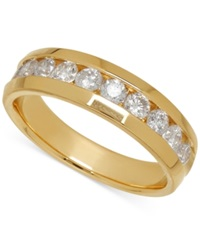 Macy's Men's Diamond Band In 14K Yellow Gold 1 Ct. T.W.