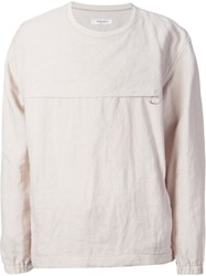 One Stroke Lateral Zip Long Sleeved T Shirt Nude And Neutrals