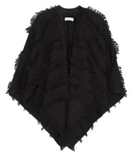 Burberry Wool And Cashmere Fil Coupe Cape Black
