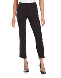 Lord And Taylor Kelly Jacquard Ankle Pants Black