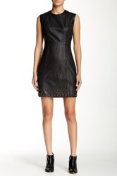 Pam And Gela Sleeveless Star Studded Leather Dress Black