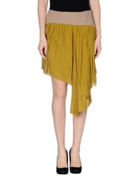 Michelle Windheuser Mini Skirts Military Green