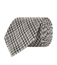 Tom Ford Graphic Houndstooth Tie Unisex Grey