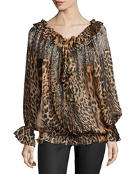 Camilla Ruler Of The Underworld Animal Print Long Sleeve Top