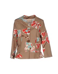 Erika Cavallini Semi Couture Erika Cavallini Semicouture Suits And Jackets Blazers Women Khaki
