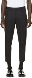 Dsquared Black Hockney Military Trousers