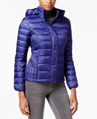 32 Degrees Packable Hooded Puffer Coat Only At Macy's Deep Blue