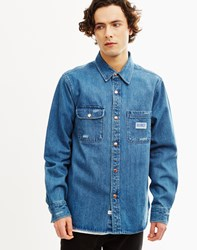 The Hundreds Hower Long Sleeve Woven Shirt Blue