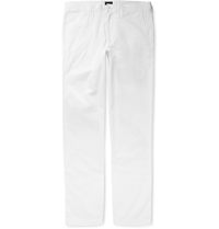 Urban Slim Fit Lightweight Cotton Trousers White