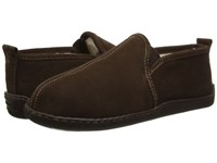 Minnetonka Pile Lined Romeo Slipper Chocolate Suede Men's Shoes Brown