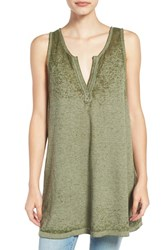 Bp Women's Project Social T Burnout Tunic Tank Olive Burnt