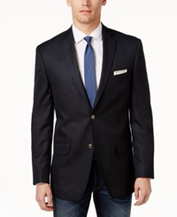 Alfani Red Slim Fit Solid Blazer Navy