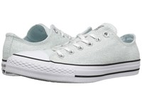 Converse Chuck Taylor All Star Sparkle Knit Ox Polar Blue Black White Women's Shoes