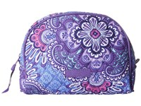Vera Bradley Medium Zip Cosmetic Lilac Tapestry Cosmetic Case Purple