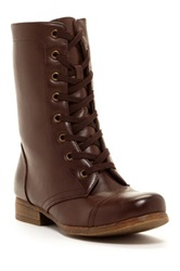 Godiva Combat Lace Up Boot Brown
