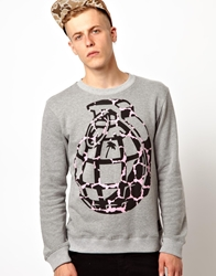 Trainerspotter Sweatshirt Ink Spot Grenade Grey