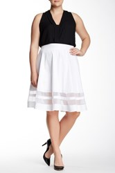 Amanda And Chelsea Organza Insert Contemporary Skirt Plus Size White