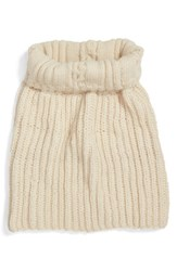 Nirvanna Designs Women's Oversize Cable Knit Wool Infinity Scarf White