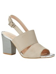 Phase Eight Eve Block Heel Sandals Grey