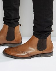Base London Boxley Leather Chelsea Boots Tan