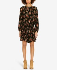 Denim And Supply Ralph Lauren Floral Print Drop Waist Dress Chloe Floral